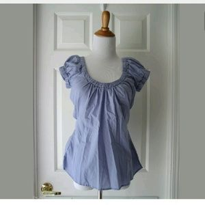Banana baby doll top Blouse size S